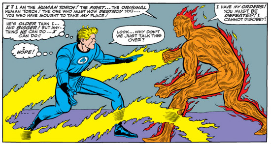 Fantastic Four Annual Four (4) Human Torch