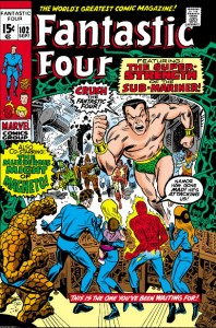 Fantastic Four Issue One Hundred and Two 102 cover romita