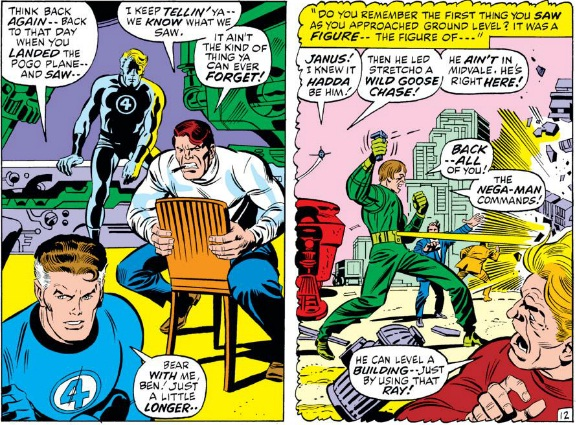 This is as much finesse as the story integration gets, going from Buscema on the left to Kirby on the right.