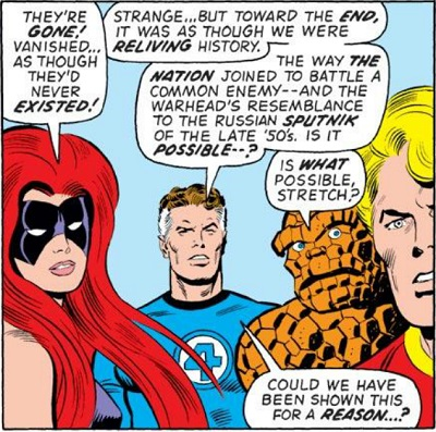 Reed Richards, smartest man in the universe, pointing out the bleeding obvious.
